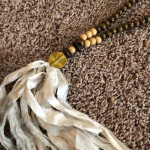 Bijou Southern silk tassel statement necklace